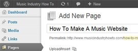 How To Create A WordPress Page