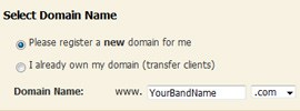 Web Hosting For Your Band