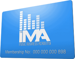 The IMA Music Business Academy Membership Card