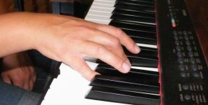 Hand Position For The Keyboard Using Black Keys