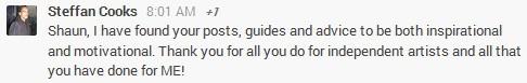 Steffan Cooks Google Plus Testimonial