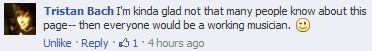 Tristan Bach Facebook Testimonial