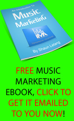 Free music marketing ebook emailed to you