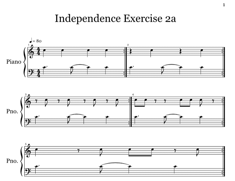 Piano piano chords exercises : Music Keyboard Basics: 3 Hand Independence Exercises To Practice ...
