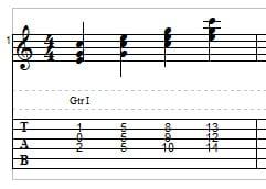 Triads in C example 2