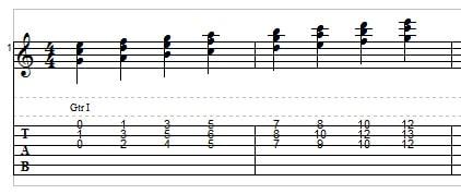 Triads in C example 5