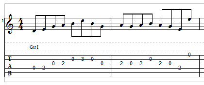 Open string lick example 1
