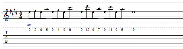 Open string lick example 2