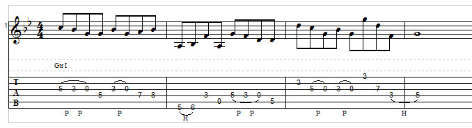 Open string lick example 5